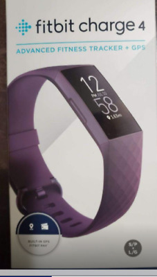 Fitbit Charge 4 Fitness - Activity Tracker w Built-in GPS Heart Rate Rosewood