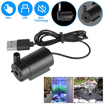 Water Pump Mini Mute Submersible USB 5V 1M Cable Garden Fountain Tool Fish Tank