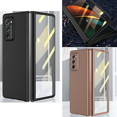 For Samsung Galaxy Z Fold 2 5G Case Luxury Shockproof Glass Cover Protector Skin