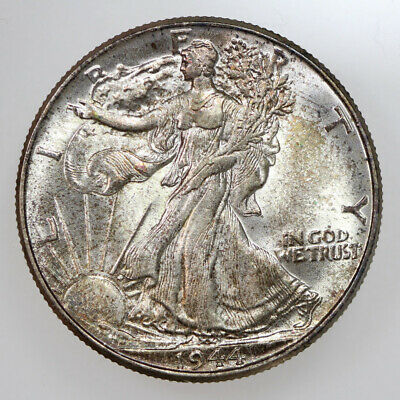 1944 50C WALKING LIBERTY SILVER HALF DOLLAR GEM BU