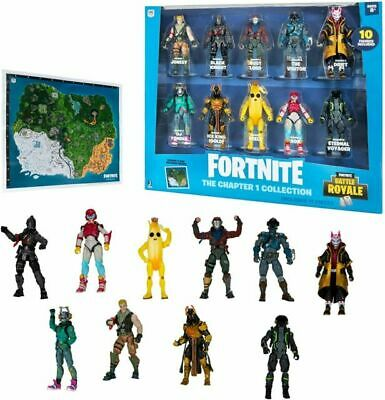 Fortnite Chapter 1 Collection 10pk Battle Royale Action Figures - Brand New