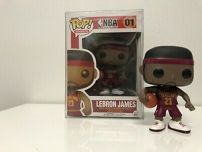Funko Pop Lebron James NBA Cleveland Cavaliers Red Jersey 01