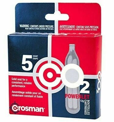 Crosman 12-Gram CO2 Powerlet Cartridges With Air Rifles And Air Pistols 5 Count