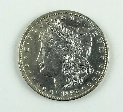 1892-CC $1 Morgan Silver Dollar AU About Uncirculated Details Cleaned Coin B1412