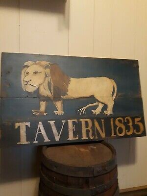 Early Primitive Inspired Tavern Sign