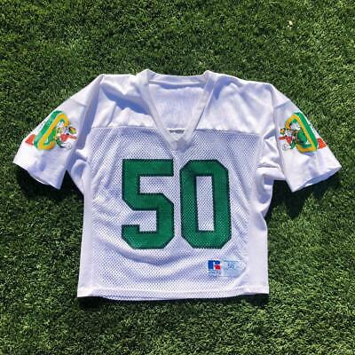 Rare VTG 80s90s Russell Athletic Oregon Ducks 50 College Football Jersey 50