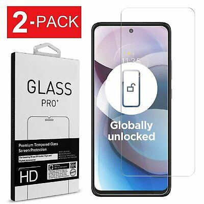 2-Pack Tempered Glass Screen Protector for Motorola One 5G AceMoto G 5G