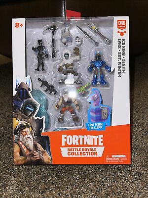 Fortnite Battle Royale Collection Ice King Zenith Lynx Win Figure Pack FAST