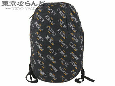 Fendi Fira Collaboration Mania With Pouch Eco Bag Backpack Nylon Navy Women S