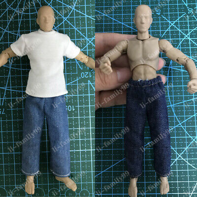 112 Scale Clothes Pants Jeans Trousers Model For 6 DAM 3A Body Action Figure