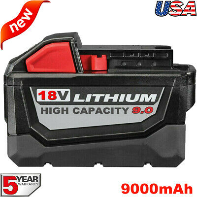 9-0AH For Milwaukee M18 18V Lithium HD 9-0 Extended Capacity Battery 48-11-1890
