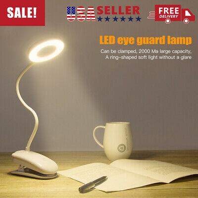 LED Desk Light Dimmable Table Bedside Reading Lamp Touch Sensor USB Rechargeable