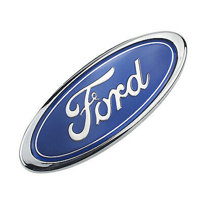 FORD 7 Inch Front Grille Tailgate Emblem 3D Oval 3M Double Side Adhesive -BLUE