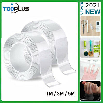 New Nano Tapes Double Sided Tape Gel Traceless Washable Adhesive Invisible 1-5M
