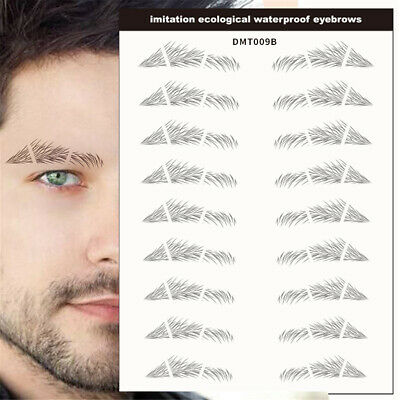 10 Pairs 4D Hair like Stick On Authentic Eyebrows Waterproof Eyebrow Sticker