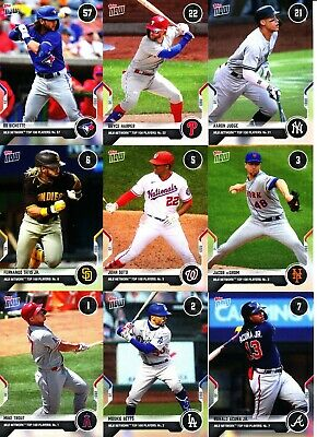 2021 Topps Now MLB Network Top 100 - SINGLES Card s 1-100 - U Pick From List