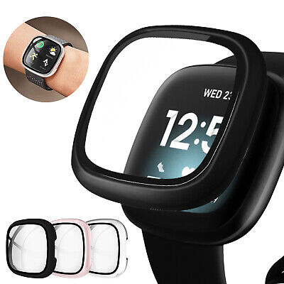 For Fitbit Versa 3 Fitbit Sense Watch Screen Protector Case Cover Shockproof US