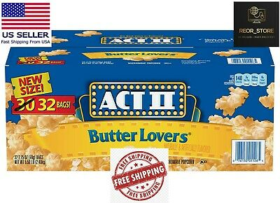ACT II Butter Lovers Microwave Popcorn 2-75 oz- 32 pk-