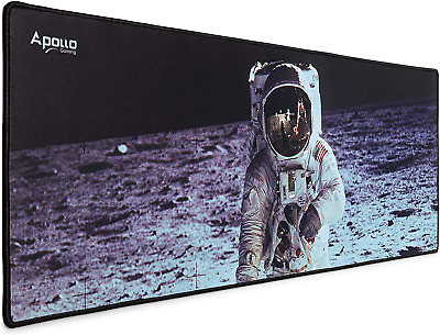 Apollo Gaming Extended Mouse Pad Large NASA Astronaut Space Design Microfiber M
