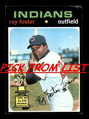 1971 Topps 3-261 Pick From List All PICTURED