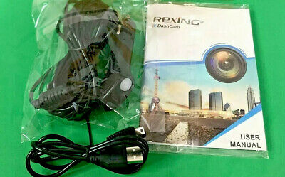 OEM Parts - Rexing V2 Dash Cam Car Charger USB Cable Owners Manual - Box