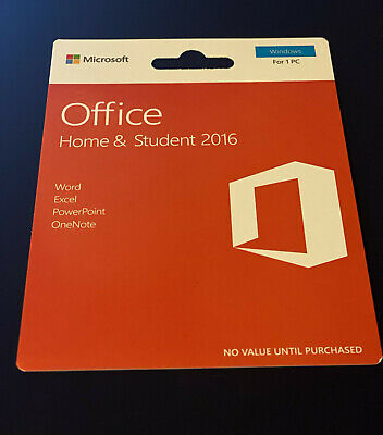 Office Home and Student  2016 for 1 PC Word Excel PowerPoint OneNote and Out