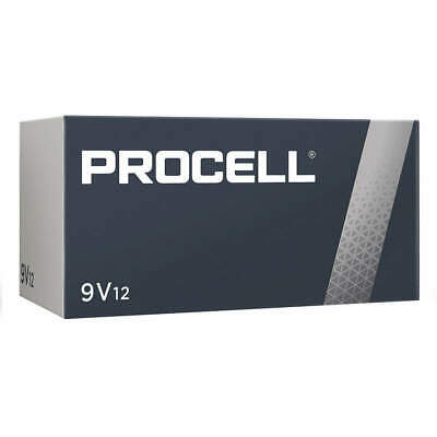 CASE 12 NEW DURACELL PROCELL 9V 9 VOLT Alkaline Batteries EXP in 2024 or Later