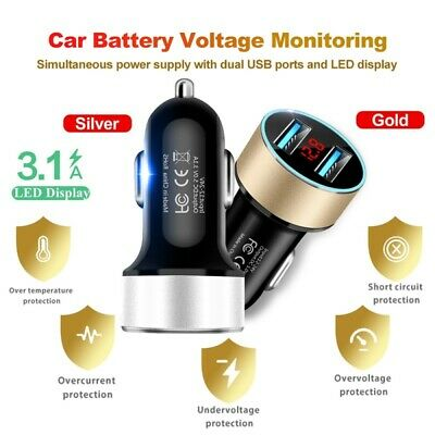 2 Port USB Fast Car Charger Dual For Samsung iPhone Android Cell Phone 5V3-1A