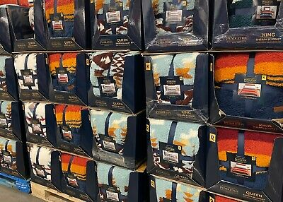 Pendleton Sherpa Fleece Blanket Select Color and Bed Size