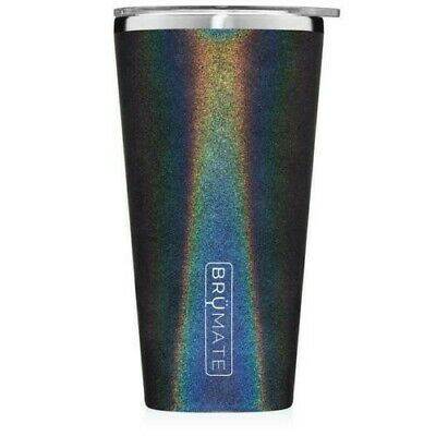 NEW Brumate Imperial Pint 20 oz Stainless Drink Bar GLITTER CHARCOAL