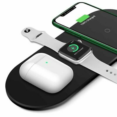 3IN1 Wireless Charger Stand Charging Dock Station For iPhone Apple Watch Air Pod