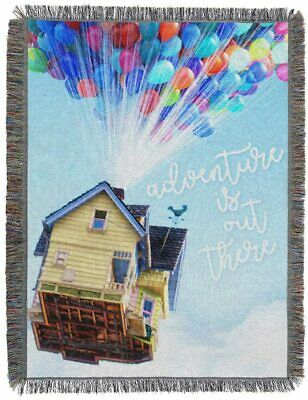 Disney Pixar Up with Balloons - House Woven Tapestry 48 x 60 Throw Blanket