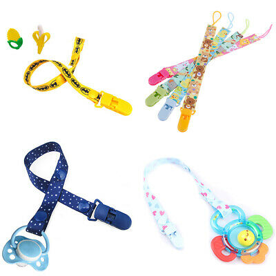 1Pc Newborn baby pacifier clips chain strap soother dummy nipple hol YK