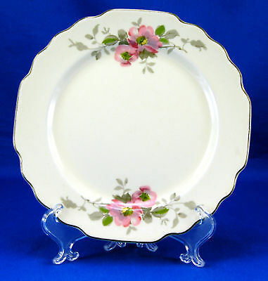 W S George BLOSSOMS Bread and Butter Plate 6-625 in- Lido Canarytone Flowers
