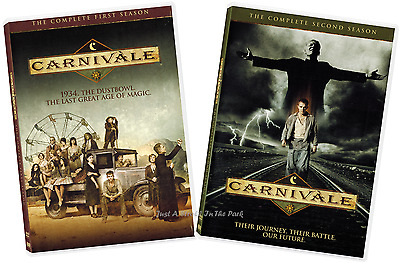 Carnivale Complete HBO TV Series Seasons 1 - 2 Box  DVD Sets NEW