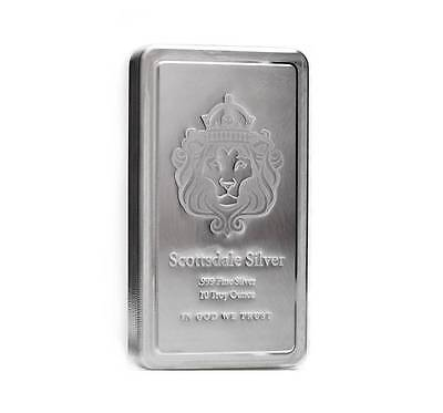10 oz Scottsdale STACKER® Silver Bar -999 Silver A182