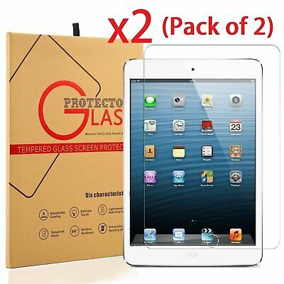 Lot 2 2x Real Tempered Glass Guard Screen Protector for Apple iPad Air  Air 2