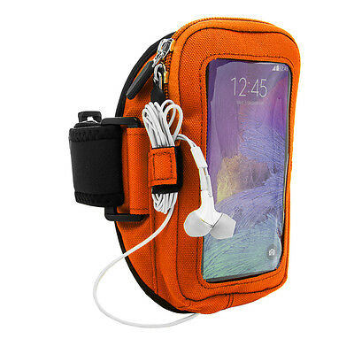 Orange Sports Running Jogging Armband Case Zippered Pouch for iPhone 12  12 Pro
