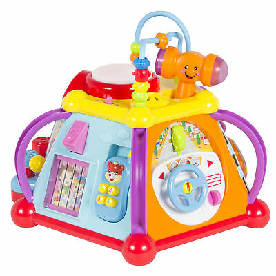 BCP Kids Musical Learning Activity Cube Toy w 15 Features Lights Sounds