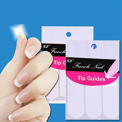 Hot-sale French Manicure Nail Art Tips Form Guide Sticker Polish DIY Stencil