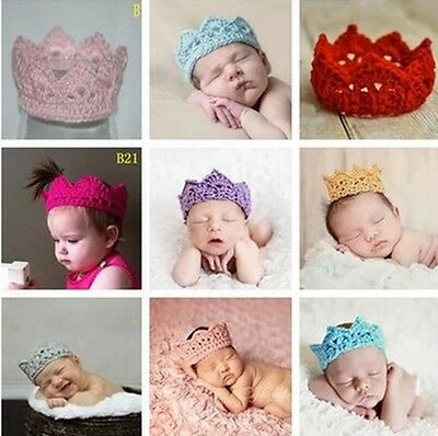 Newborn Baby Girl Boy Crochet Knit Costume Photo Photography Prop Hats Outfit EE