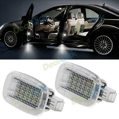 2x White Error Free Side Door Courtesy Light Trunk Lights for Mercedes-Benz W212