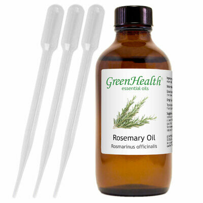 4 fl oz Rosemary Essential Oil 100 Pure - Natural with 3 Free Droppers