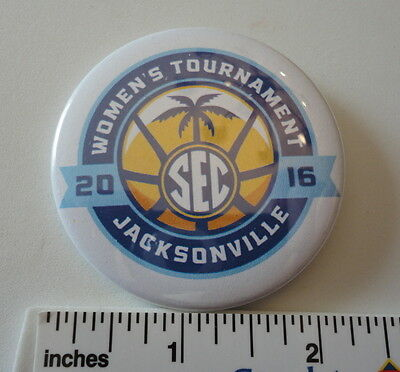 2016 SEC Womans Basketball Tournament - Jacksonville FL - 2 14 Logo Button