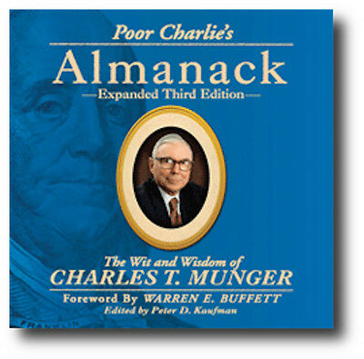 Poor Charlies Almanack The Wit and Wisdom of Charles T Munger 3rd Ed- BRAND NEW