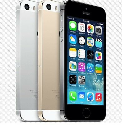 Apple iPhone 5S- 16 32 64GB GSM Factory Unlocked Smartphone Gold Gray Silver c