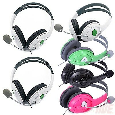2 Pack Live Gaming Headset Headphones w Microphone for Microsoft Xbox 360 Chat