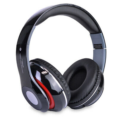Bluetooth Wireless Headphones with Built In FM Tuner Memory Card Slot and Mic