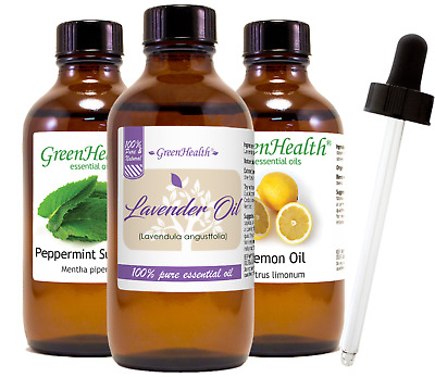 4 oz Essential Oil with Glass Dropper Free Shipping 50- Oils to Choose from