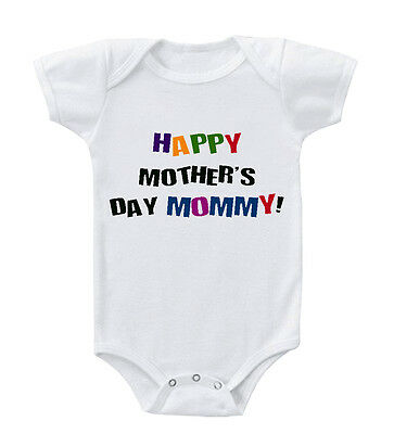 Happy Mothers Day Mommy Infant Toddler Baby Cotton Bodysuit One Piece